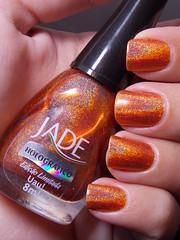 Uau! - Jade (Natalia Breda) Tags: laranja jade desafio holográfico esmaltenacional