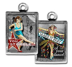 PU064- if you stumble (ToadHollowNJ) Tags: jewelry charms pickupsticks redbanknj toadhollow photocharms toadhollownjcom