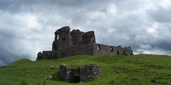 Auchindoun Castle(1), near Dufftown, July 2015 (allanmaciver) Tags: sky storm castle thomas ruin historic trouble hillside cochrane dufftown cabrach 1479 auchindoun allanmaciver