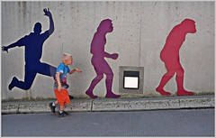 evolution...(Explored 13.07.2015) (kurtwolf303) Tags: boy urban topf25 wall interesting topf50 topf75 funny 500v20f streetphotography evolution lustig topf150 topf100 figures topf200 800views junge omd mauer figuren 1000views 5000views 3000views 900views 2500views strase urbanlifeinmetropolis 99f 4000views 6000views 750views explored 1500v60f 1000v40f 3000v120f inexplore 250v10f lovelycity systemcamera flickrelite unlimitedphotos thebestpicturegallery micro43 microfourthirds olympusem1 minimum2000v minimum700v minimum1500v singularposturemodels 100favesonly kurtwolf303