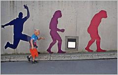 evolution...(Explored 13.07.2015) (kurtwolf303) Tags: evolution streetphotography boy junge strase olympusem1 omd microfourthirds micro43 systemcamera unlimitedphotos urbanlifeinmetropolis 250v10f inexplore 500v20f minimum700v 750views 800views 900views 1000v40f singularposturemodels 1000views explored wall mauer urban 1500v60f topf25 topf50 topf75 minimum1500v minimum2000v 99f 100favesonly topf100 lovelycity 2500views 3000views 3000v120f figures figuren lustig funny interesting topf150 thebestpicturegallery 4000views 5000views flickrelite 6000views kurtwolf303 topf200 7000views 8000views
