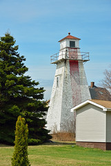 Indian Point Range (rear) Lighthouse, NB (hatchski) Tags: ocean ca new bridge light sea lighthouse canada beach point indian rear prince brunswick shore cape edwards range confederation tormentine