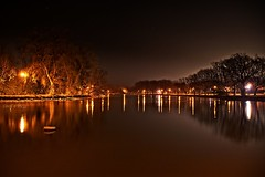 Nightscape (fool's itch) Tags: sky stars night light lights trees river water reflections landscape nightscape serenity longexposure peaceful idyllic nikonflickraward