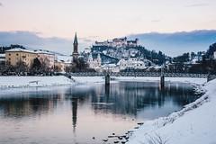 a fairytale (lina zelonka) Tags: salzburg österreich austria linazelonka europe europa salzach river architecture salzburgstadt salzburgcity salzburgerland winter schnee snow fluss festunghohensalzburg castle burg nikond7100 18105mm
