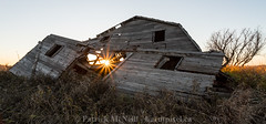 Inner Light (burntpixel.ca) Tags: canada manitoba winnipeg photo photograph rural fine art patrick mcneill burntpixel wrench777 beautiful spectacular sunrise sunset morning evening sunlight prairie sony a7r2 sonya7r2 canon 1740mm horizontal panorama wide angle sun barn forgotten abandoned ruin decay grey gray orange