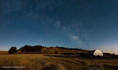 Milky Way Arches over a Wheat Farm Lit by Moonlight (Marsha Kirschbaum) Tags: nightsky sanluisobispocounty californa wheatfarm hogcanyon mkphoto marshakirschbaum panocomponents