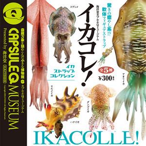 海洋堂「膠囊Q博物館」系列5月新作:神奇的魷魚迷你模型