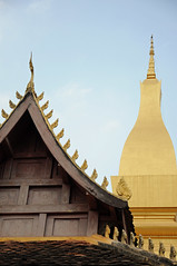 Architecture at Pha That Luang (ollygringo) Tags: city travel tourism architecture temple asia southeastasia stupa buddhist capital buddhism laos vientiane phathatluang