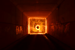 steel wool tunnel (james22111994) Tags: longexposure ireland wall fire steel tunnel le wicklow