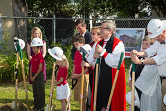 St Andrew's groundbreaking May 2013-8055 (babaroosifer) Tags: school john ceremony standrews shovel groundbreaking barousse 2013 masonlecky mothergaumer