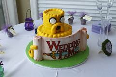 Jake the Cake (Obajoo) Tags: cake jake fondant jakethedog groomscake weddingtime adventuretime