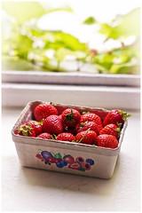 a tray of strawberries (electrigger) Tags: strawberry strawberries tray fraise  fragola erdbeere erdbeeren frutilla schale fresa fraises truskawka freson