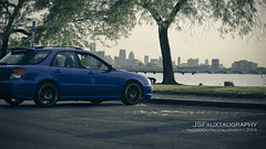 _MG_7807 copy (JSFauxtaugraphy) Tags: blue sunset summer hot 2004 wagon dusk rear wheels detroit springs subaru tight wrx epic lowered jdm spats