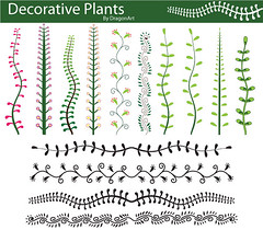 Download Decorative Plants Vector (Freevectorzone) Tags: plants floral decorative border decoration ornate naturevector