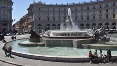 Fountain of the Naiads at Piazza della Repubblica, Rome