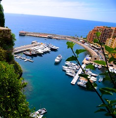 A Marina View from the Prince's Palace, Monaco (Photography By Laurice Marier) Tags: sea cliff water marina boats bay view monaco yachts princespalace