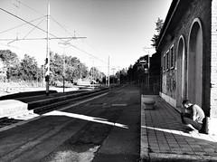 Stazione di Ellera Corciano (annapasquale1) Tags: travel boy railway stazione viaggio ragazzo binari uploaded:by=flickrmobile flickriosapp:filter=nofilter