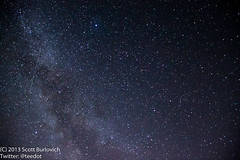 The Milky Way and Perseid Meteor