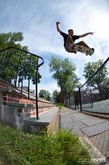 Andrew Feder | Ollie (Ricky Aponte) Tags: boy nikon skateboarding skating gap fisheye skate skateboard skater d7000