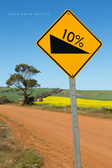 Ten percent (john white photos) Tags: road sign warning dangerous australia ten southaustralia slope steep percentage 10percent eyrepeninsula