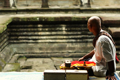 for good luck. (Little Trippy Ninja) Tags: travel man temple ruins asia cambodia southeastasia locals oldman angkorwat wanderlust siemreap angkor