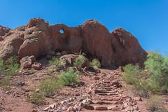 Rock Stairway (Chris Le Texier) Tags: park arizona phoenix rock canon garden sandstone desert papago citypark desertbotanicalgarden papagopark rockformation buttes holeintherock 60d sandstonebuttes openinginrock