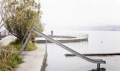 Slide (sandronimus) Tags: autumn switzerland zurich publicbath lido strandbad tiefenbrunnen zurichsee sigma50mmf14 sonya200