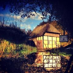 nwoD edispU (mokastet) Tags: water yellow square upsidedown squareformat watermill