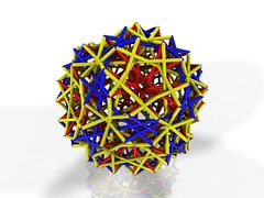 Joining vertices (fdecomite) Tags: math povray truncated vertex icosidodecahedron vertices