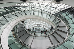 London City Hall (Andrew Tan 2011) Tags: uk england people london glass architecture modern spiral design vanishingpoint mayor unitedkingdom cityhall interior steps normanfoster staircase railing circular matchpointwinner thepinnaclehof tphofweek228 mpt319