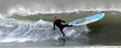 Falling. Surfer (mootzie) Tags: sea beach wet scotland waves surfer north surfing falling aberdeen surfboard wetsuit
