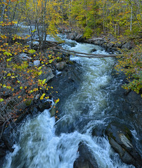 Housatonic River Vertical Panorama, Near Bull's Bridge, Connecticut (J. A. Robertson) Tags: autumn connecticut rapids bullsbridge housatonicriver