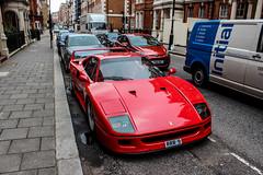 RRR (Reece Garside | Photography) Tags: red summer sun london history italian ferrari knightsbridge whip rare supercar f40 spotter ferrarif40 hypercar worldcars vision:text=0