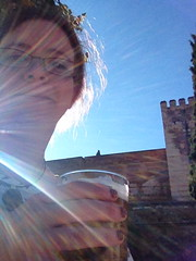 Me and a beer outside the Alcazaba