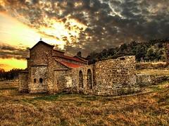 THE DARK IS GONE (Saimir.Kumi) Tags: light sky cloud tree church field architecture clouds dark landscape march spring finepix fujifilm albania 2012 durres s9600 rodonicape