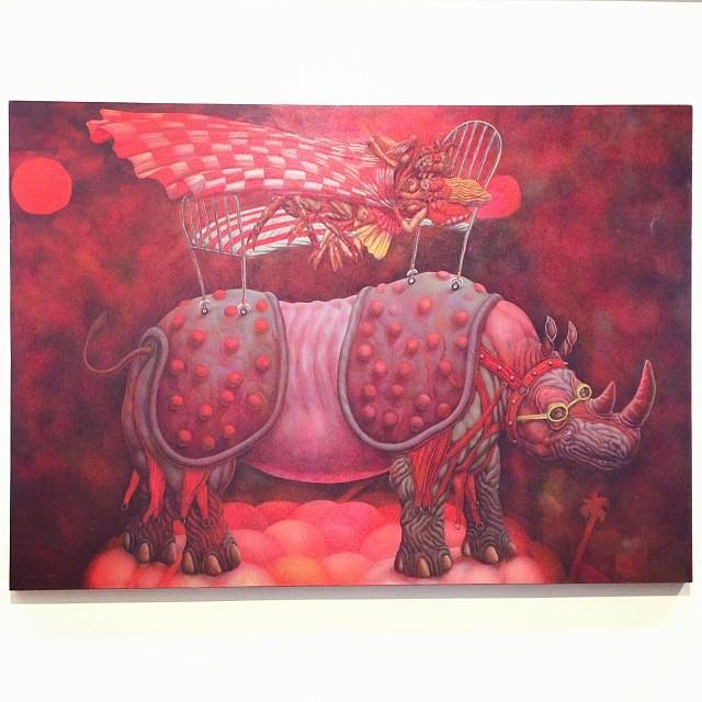 """Los Sueños de Charly"" Francisco Vilchez • ""Bestiario"" #muestra colectiva #arteenlima #arte #artinlima #art #artistaperuano #artist #artista #peruvianartist"