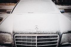 Chicago (getFATfaster) Tags: winter snow cold benz frost grill mercedesbenz s500 w140
