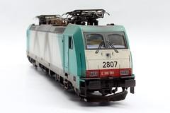 NMBS 2807 (186 199) (Romar Keijser) Tags: scale train br 186 ho 187 199 treinen schaal nmbs 2807 modelspoor h0 modelbouw modeltreinen vervuild modeltrein vervuilen weatheren