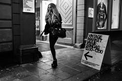 Vintage Market (dFederico) Tags: street blackandwhite girl fashion night vintage shopping pretty noir fuji stockholm streetphoto bianco blanc nero x100s dfederico danielfedericocom