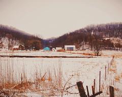 The Little Teal Barn (Mega Rutabaga) Tags: winter wisconsin barn rural america landscape midwest farm teal farming roadtrip americana wintertime idyll snowfall idyllic oldbarn midwestern driftlessregion
