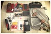 Worldly Goods (StationeryExplorer) Tags: travelling bag nikon traveling contents possessions personaleffects s3000