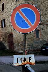 Prohibition (DesySucks) Tags: road italy sign italia fine emilia end prohibition segnale reggio divieto toano