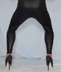 3 (Mandy Buffalo) Tags: blue high buffalo highheels heels leggings stilettos