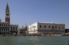 Saint Mark's Square and the Doge's Palace seen from the water