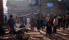 Street markets (whitworth images) Tags: street city nepal people building men brick women asia market lane baskets pedestrians kathmandu selling stalls worldheritage bhaktapur nepali buying vendors worldheritagearea bagmati