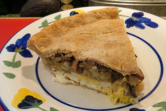 Sally's Vegetable Pie 30 March 2014 9877Ri 4x6 (edgarandron - Busy!) Tags: food vegetables pie pies