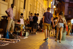 Night black market (mic00l) Tags: street summer italy rome roma yellow night canon eos italia shot candid 100mm italie 6d f20 latium
