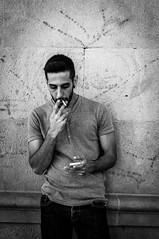 Chill Time (Oskar Kotowicz) Tags: barcelona street bw 6 white black 50mm spain sony nex