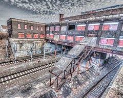 Pawtucket-Central Falls Train Station (ScottAConner316) Tags: train canon buildings ruins unitedstates urbandecay newengland historic rhodeisland abandon northamerica hdr highdynamicrange pawtucket sigmalens photomatix tainstation sigma1020mm456dchsm eos70d