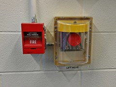 Fire alarm pull station and button at Gabriel Brothers (SchuminWeb) Tags: schuminweb ben schumin web october 2014 annearundel anne arundel county maryland md converted building buildings glenburnie glen burnie fire alarm alarms pull station stations push button plunger plungers buttons stopper cover covers edwards est ge vigilant general electric 278 pullstation pullstations lift then handle for former walmart store stores gabrielbrothers gabriel brothers gabes retail retailer retailers retailing crain highway hwy wal mart dual action firealarm firealarms discount discounter discounters burnell glenburnell